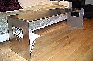 "alt =""mueble - metálico - diseño - barcelona - acero - inoxidable"