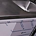 mueble de acero inoxidable con puertas correderas neutro